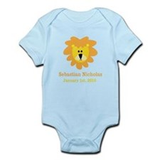 CUSTOM Lion w/Baby Name and Birth Date Body Suit