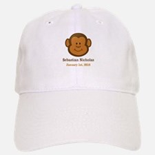 CUSTOM Monkey w/Baby Name and Birthdate Baseball C