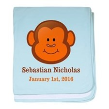 CUSTOM Monkey w/Baby Name and Birthdate baby blank