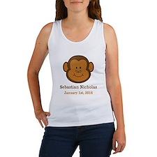 CUSTOM Monkey w/Baby Name and Birthdate Tank Top