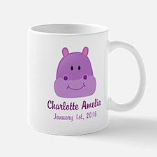 CUSTOM Hippo w/Baby Name and Birthdate Mugs