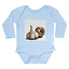 Cute Garlic Long Sleeve Infant Bodysuit