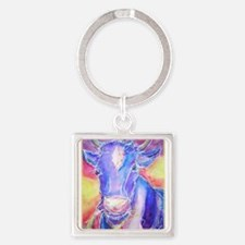 Cow! Colorful, art! Keychains