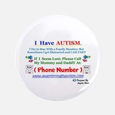 Personalized Lost Person With Autism Button
