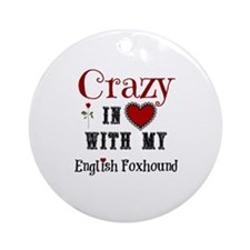 English Foxhound Ornament (Round)