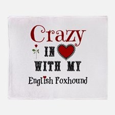 English Foxhound Throw Blanket