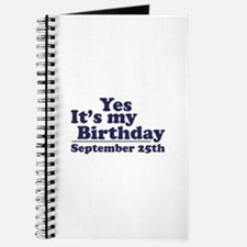 September 25th Birthday Journal