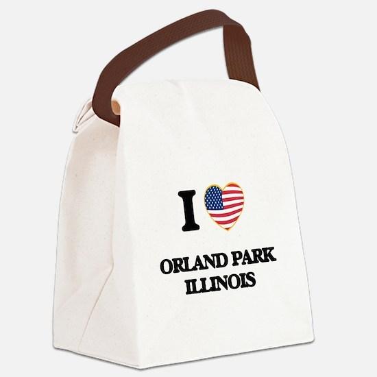 I love Orland Park Illinois Canvas Lunch Bag