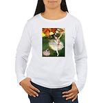 Dancer 1 & fawn Pug Women's Long Sleeve T-Shirt