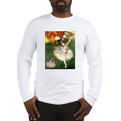 Dancer 1 & fawn Pug Long Sleeve T-Shirt