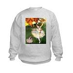 Dancer 1 & fawn Pug Kids Sweatshirt