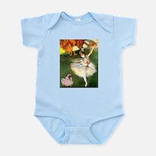 Dancer 1 & fawn Pug Infant Bodysuit