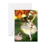 Dancer 1 & fawn Pug Greeting Cards (Pk of 10)