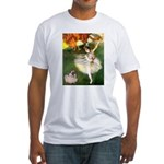 Dancer 1 & fawn Pug Fitted T-Shirt