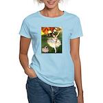 Dancer 1 & fawn Pug Women's Light T-Shirt