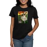 Dancer 1 & fawn Pug Women's Dark T-Shirt