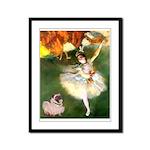 Dancer 1 & fawn Pug Framed Panel Print