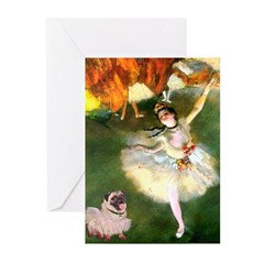 Dancer 1 & fawn Pug Greeting Cards (Pk of 20)
