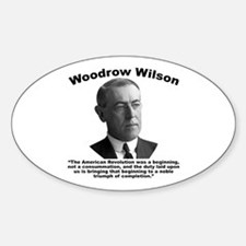 Wilson: Revolution Sticker (Oval)