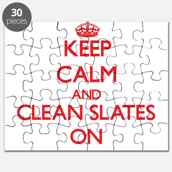 Keep Calm and Clean Slates ON Puzzle