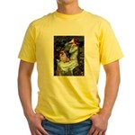 Ophelia / Fawn Pug Yellow T-Shirt