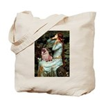 Ophelia / Fawn Pug Tote Bag