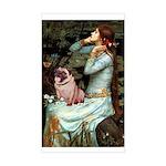 Ophelia / Fawn Pug Sticker (Rectangle)