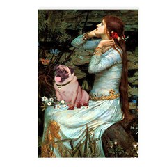 Ophelia / Fawn Pug Postcards (Package of 8)