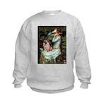 Ophelia / Fawn Pug Kids Sweatshirt