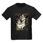 Ophelia / Fawn Pug Kids Dark T-Shirt