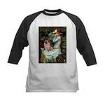 Ophelia / Fawn Pug Kids Baseball Jersey
