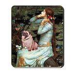 Ophelia / Fawn Pug Mousepad