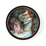 Ophelia / Fawn Pug Wall Clock
