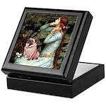 Ophelia / Fawn Pug Keepsake Box