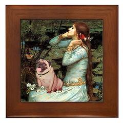 Ophelia / Fawn Pug Framed Tile