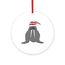 Walrus Ornament (round)