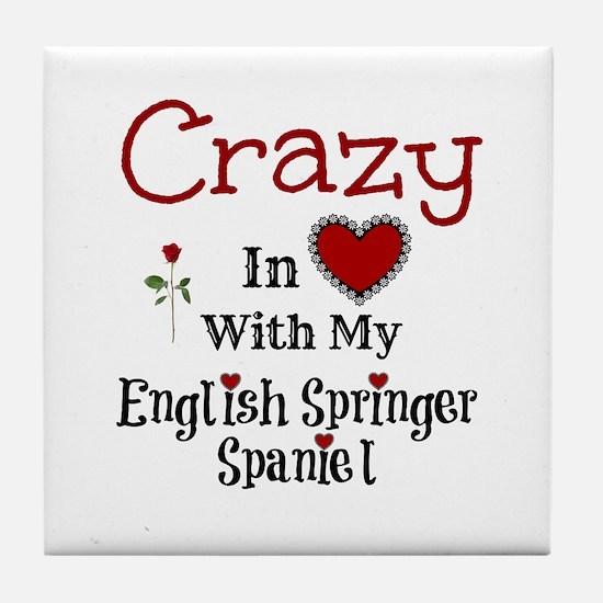 English Springer Spaniel Tile Coaster