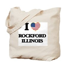 I love Rockford Illinois Tote Bag