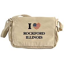 I love Rockford Illinois Messenger Bag