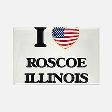 I love Roscoe Illinois Magnets