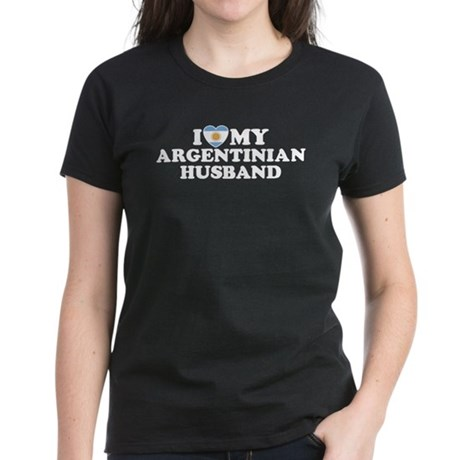 I Love My Argentinian Husband Women's Dark T-Shir