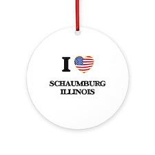 I love Schaumburg Illinois Ornament (Round)