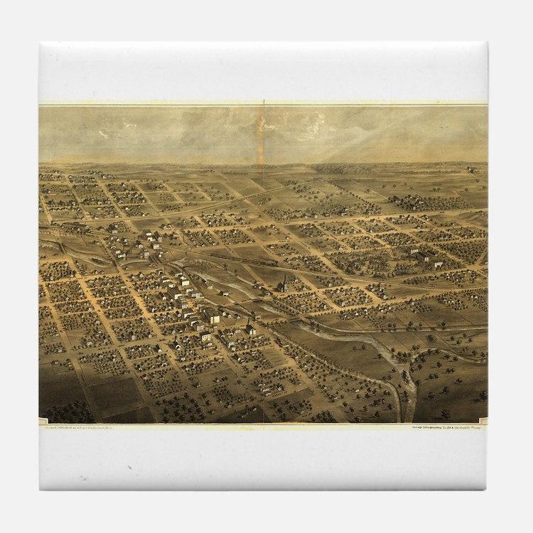 Albion, Michigan.1868. Tile Coaster