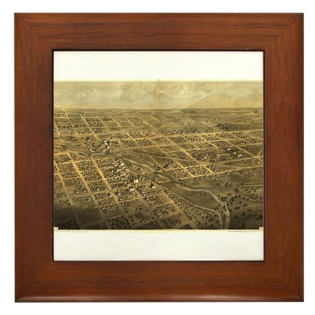 Albion, Michigan.1868. Framed Tile