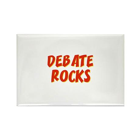 Debate~Rocks Rectangle Magnet (10 pack)