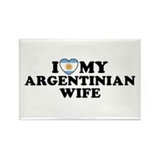 I Love My Argentinian Wife Rectangle Magnet