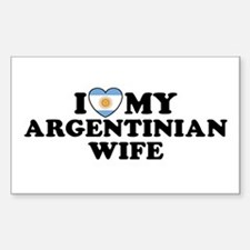 I Love My Argentinian Wife Rectangle Decal