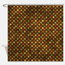 Vintage Fall Polka Dots Shower Curtain