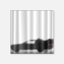 """DeLorean Silhouette Square Sticker 3"""" x 3"""""""
