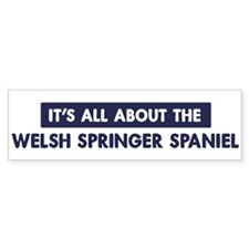About WELSH SPRINGER SPANIEL Bumper Bumper Sticker